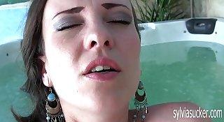 Cute Hot Teen Milf Solo Masturbation Near the Jacuzzi. Sylvia Chrystall