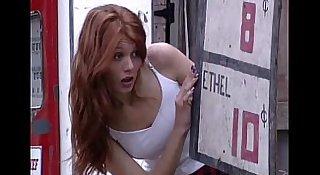 Cute Redhead Jubilee Fucks Town Idiot