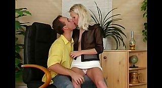 Platinum Blonde Czech MILF Sex