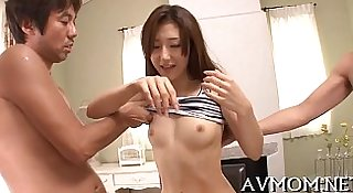 Milf receives big cock to play with