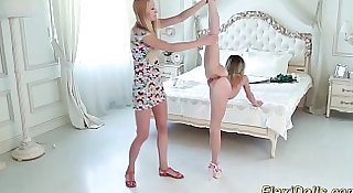 flexi real teen doll stretched