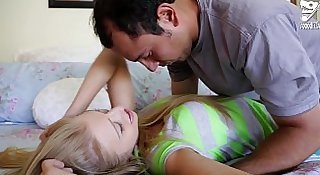 Axxxteca Hot blonde teen is fucked by her babysitter!!!