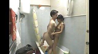 Young Teen Amateur Couple Awesome Bathroom Fuck
