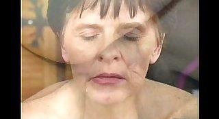 Grandma loves young cock and facial