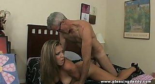 Young Brunette slut Shyla Jameson Fucks and old cock